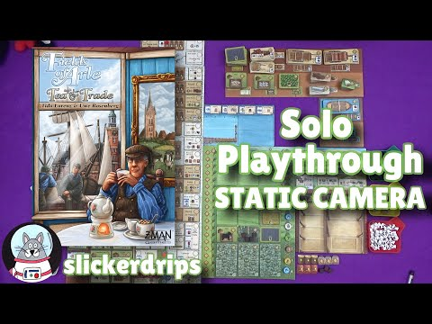 Fields of Arle: Tea and Trade | Solo Playthrough (Static Camera)