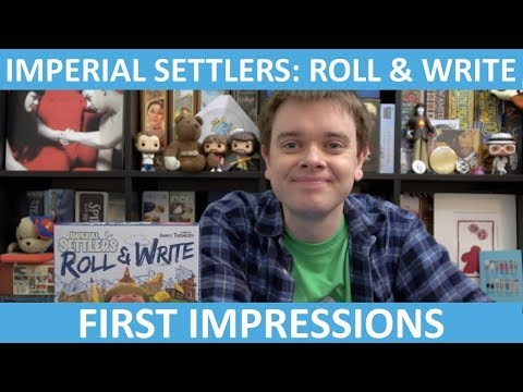 Imperial Settlers: Roll & Write | First Impressions | slickerdrips