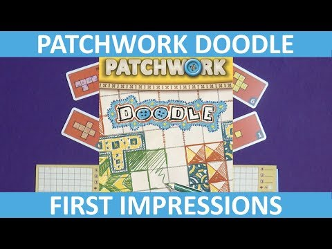 Patchwork Doodle | First Impressions | slickerdrips