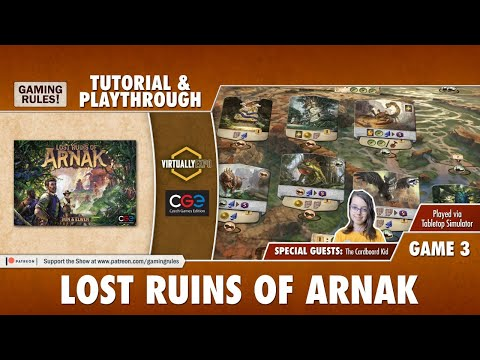 Lost Ruins of Arnak - Tutorial & Playthrough for Virtually Expo - Game 3