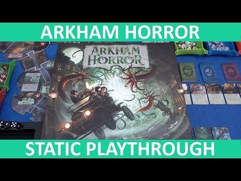 Arkham Horror Third Edition - Playthrough (Static Camera) [Part 1] - slickerdrips