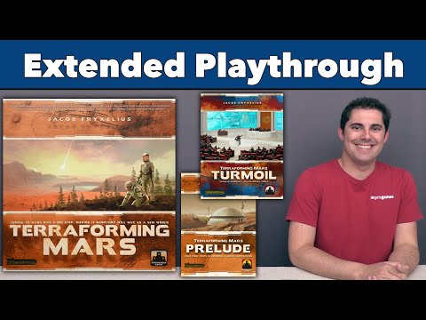 Terraforming Mars with Turmoil and Prelude expansions Extended Playthrough