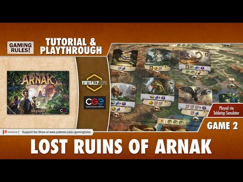 Lost Ruins of Arnak - Tutorial & Playthrough for Virtually Expo - Game 2