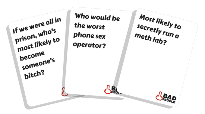 bad people card game examples