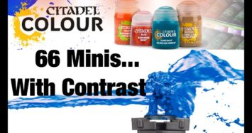 66 Miniatures… painted using only Citadel Contrast Paints!