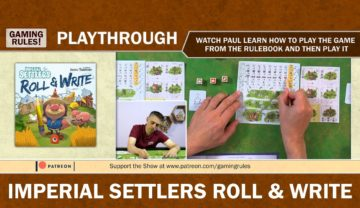 Imperial Settlers Roll & Write – Learning the rules from the rulebook & Playthrough