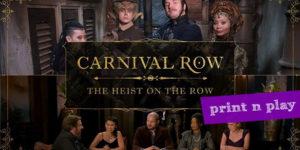 Carnival Row RPG