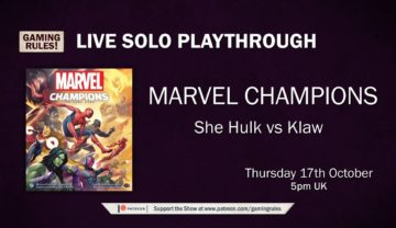 Marvel Champions LCG Playthrough – She Hulk vs Klaw