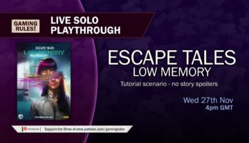 Escape Tales: Low Memory – Live tutorial and solo playthrough