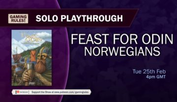 Feast for Odin: Norwegians – Solo Playthrough with Gaming Rules!