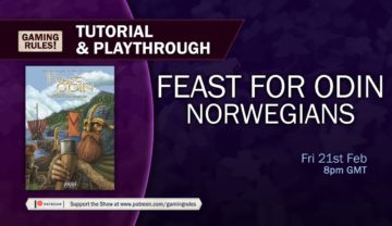 Feast for Odin: Norwegians – Tutorial and Playthrough with Gaming Rules!