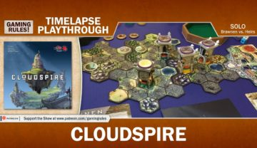Cloudspire Solo Playthrough on Timelapse – Brawnen vs. Heirs