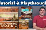 Terraforming Mars with Turmoil and Prelude expansions Playthrough