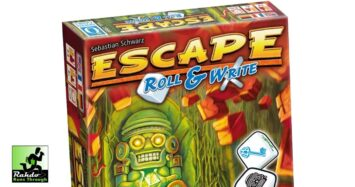 Escape Roll & Write – FINALLY a co-operative roll & write! Been waiting for this for a long time!!!