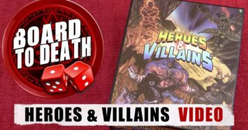 Board to Death TV   Heroes & Villains Card Game Review Video
